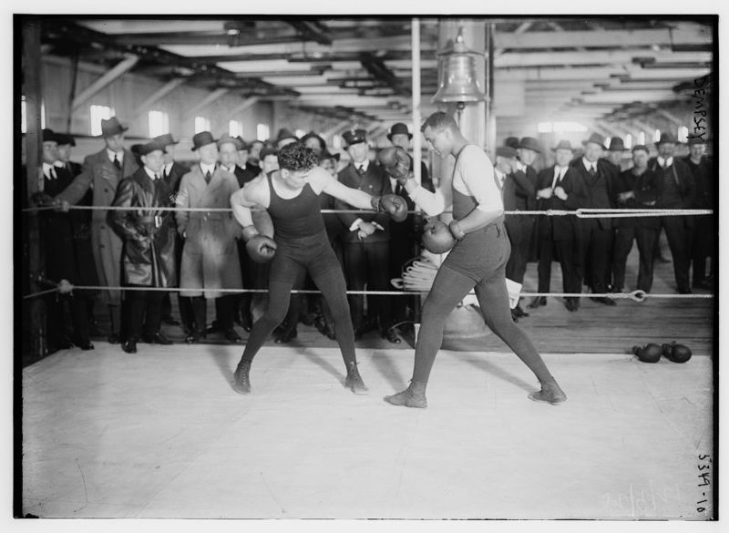Jack Dempsey in ring