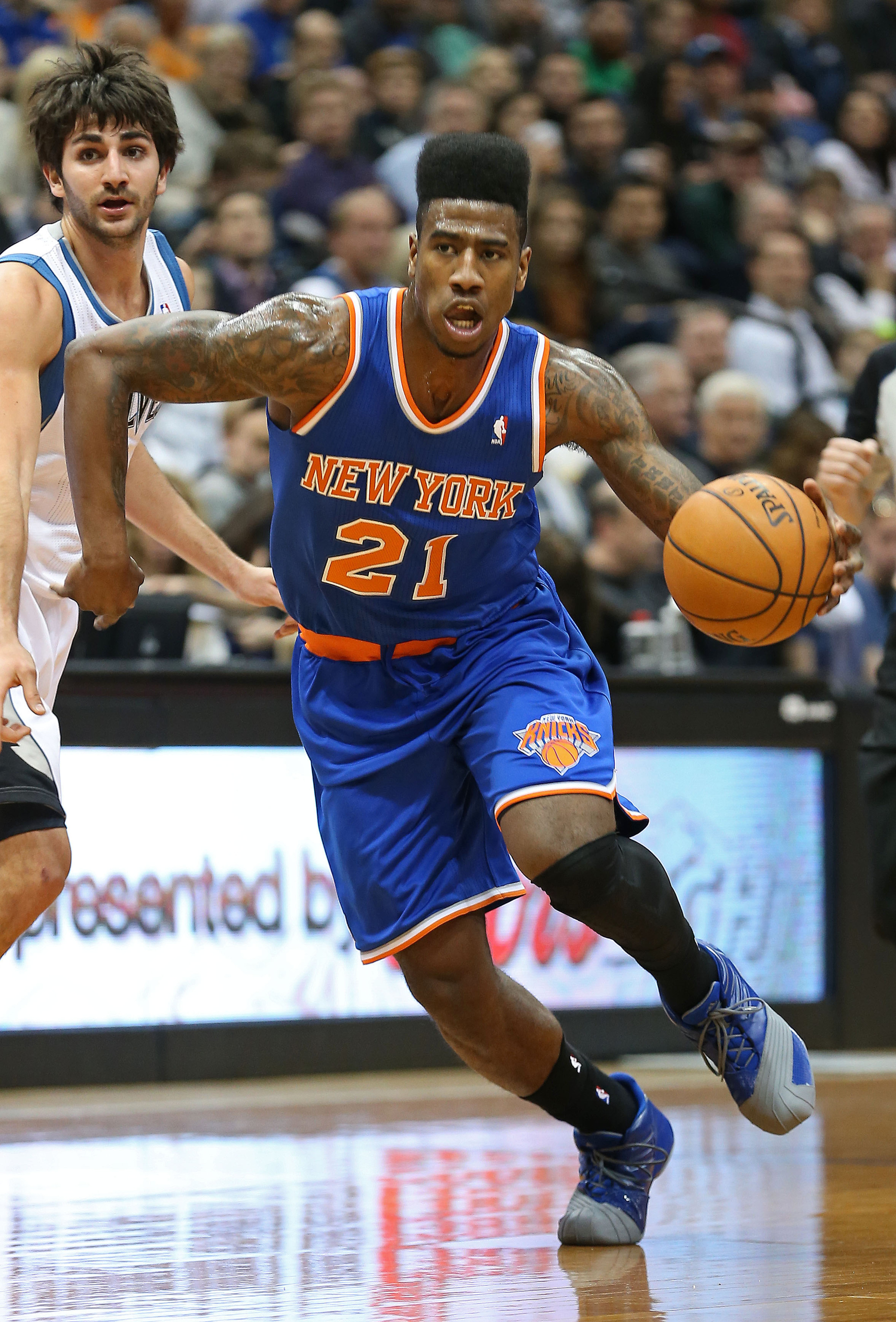 Iman Shumpert and his hair are staying in New York, says agent.