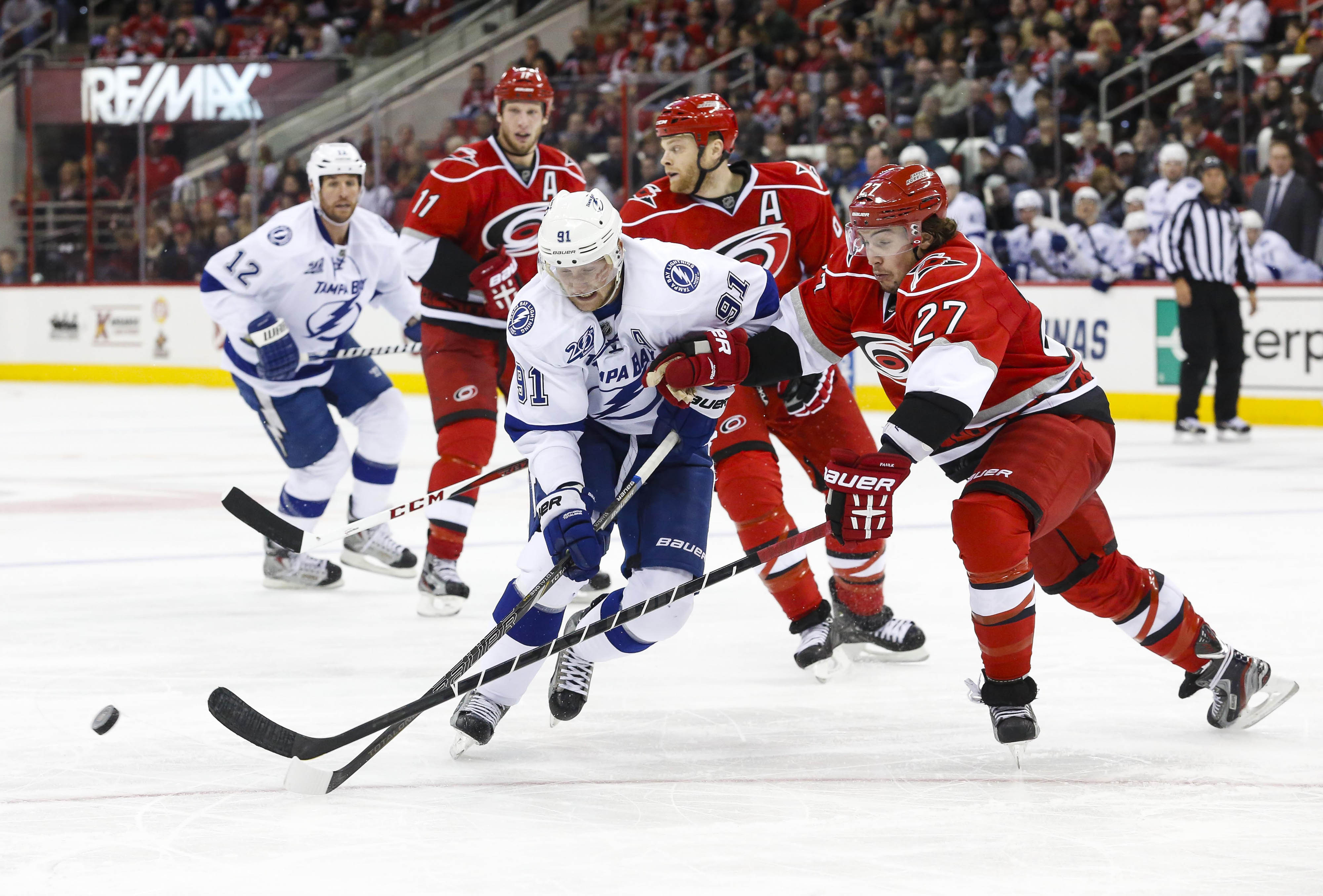 Steve Stamkos should expect to see a lot of defenseman Justin Faulk tonight.