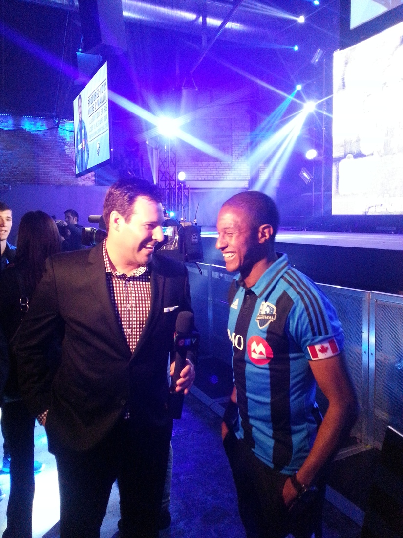 Patrice Bernier interviewed by CTV's Andre Corbeil