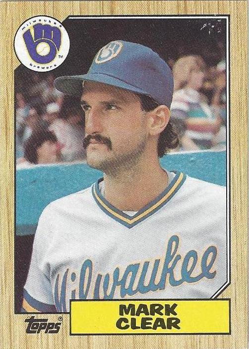 Mark Clear's 1987 Topps card, #640
