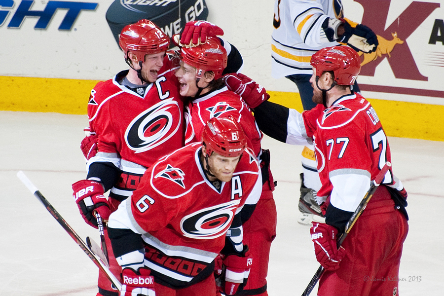Eric Staal and Alex Semin are making some beautiful hockey these days.