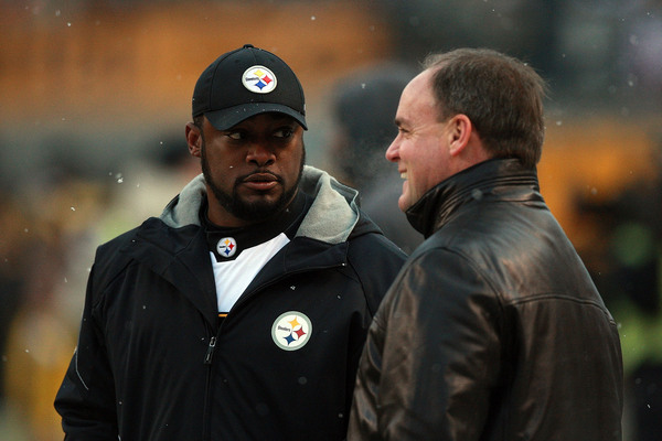 Mike Tomlin and Kevin Colbert certainly do not lack conversation topics today....
