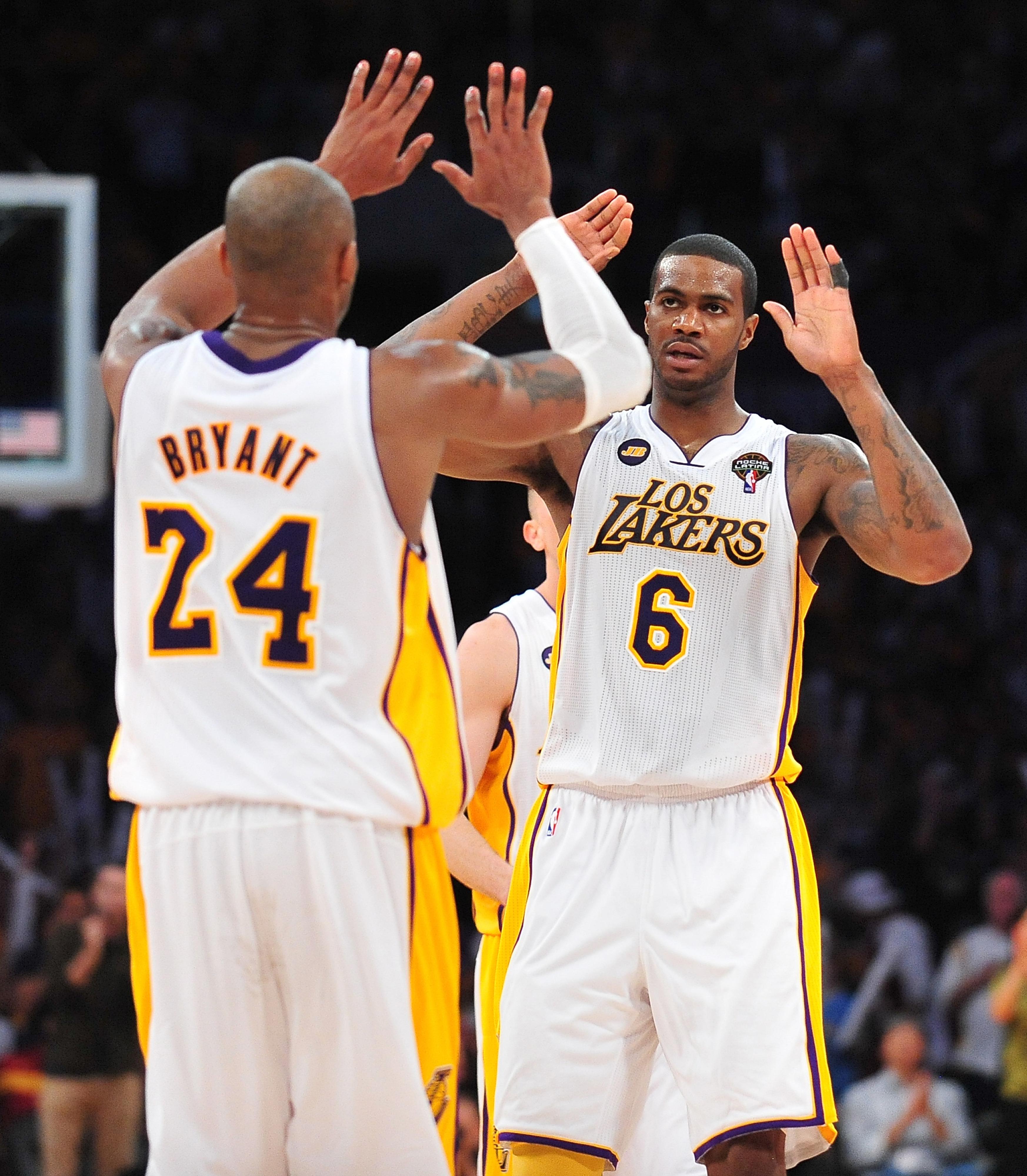 Kobe Bryant and Earl Clark
