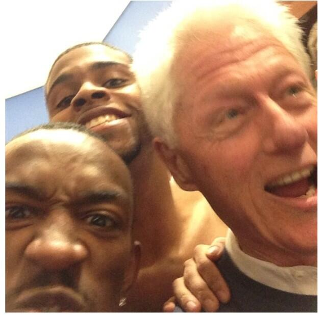 Bill Clinton celebrates Louisville win