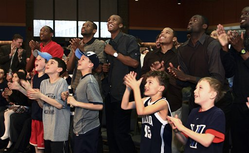 Villanova's team celebrated publicly on campus when they made the NCAA Tournament in 2009.